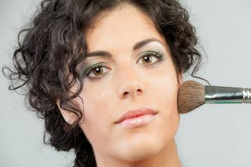 Woman Make up closeup