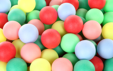 Colorful balls pile