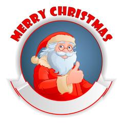 Santa with copy space logo