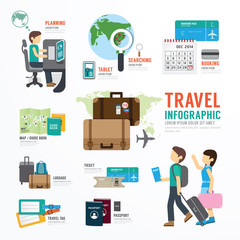 World Travel Business Template Design Infographic . Concept