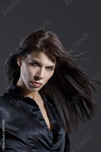 canvas print picture Dunkelhaarige Frau , Portrait