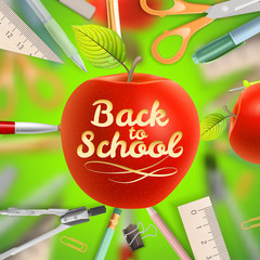 Set of Welcome back to school template. EPS 10