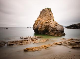 Beach in Ferrol, Galicia, Spain.