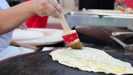 Woman Making Turkish Pancakes