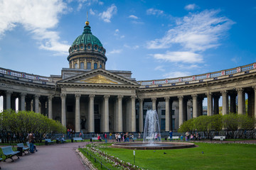 The Kazan Cathedral. Saint-Petersburg, Russia