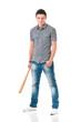 Man with baseball bat