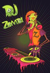 DJ zombies. cartoon character