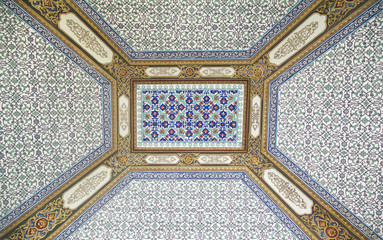 Beautiful ceiling of Mosque in Istanbul