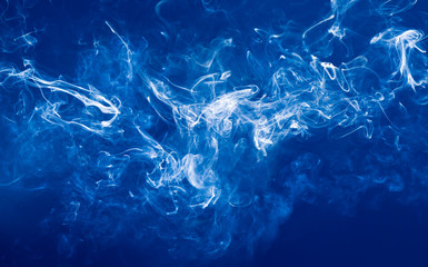 Abstract background with blue smoke