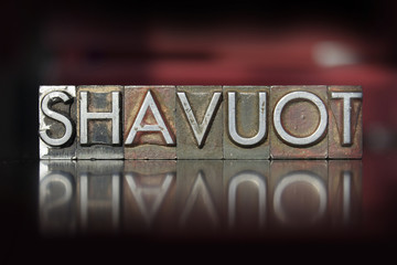 Shavuot Letterpress