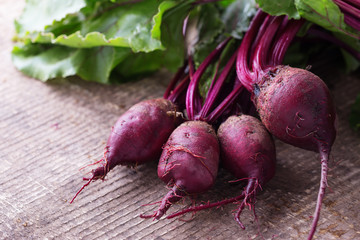 Fresh vegetable beetroors