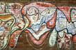 Graffiti auf einer Ziegelwand - Hintergrund