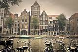 grey day in amsterdam city