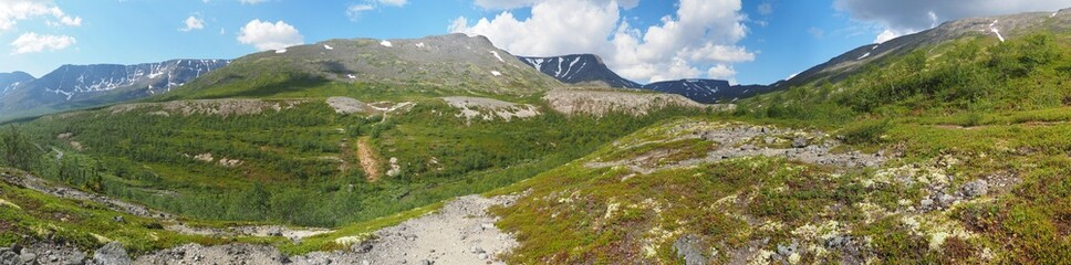 mountains in summer. Panorama