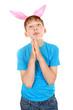 Kid with Bunny Ears