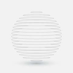 Abstract sphere, vector element