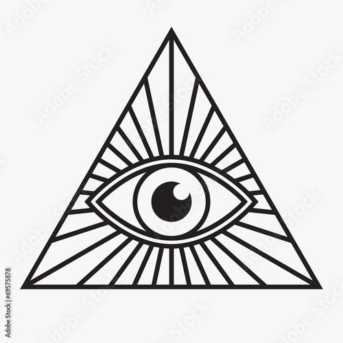 All seeing eye symbol, vector illustration