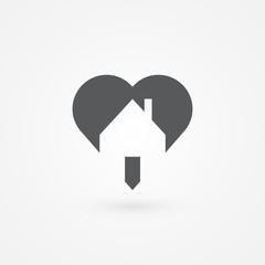 Real estate icon, vector illustration