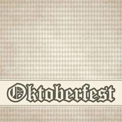 old vintage background with checkered Oktoberfest pattern