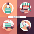 flat design for online shopping concept