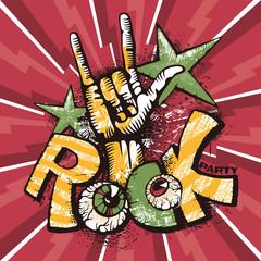 Grunge rock poster