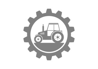 Grey industrial icon on white background