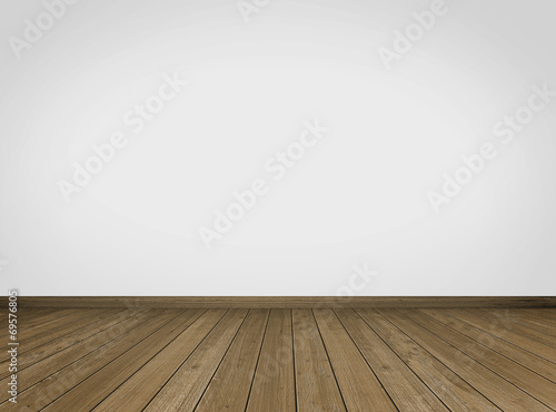 Empty Room / Wooden Floor - 69576805