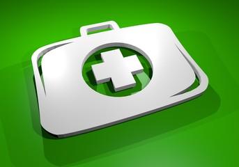 Green medical box