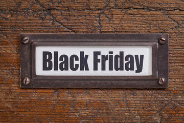 Black Friday file label