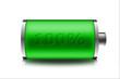Leinwandbild Motiv Graficzny wskaźnik naładowania baterii
