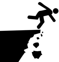 falaise instable, risque de chutes