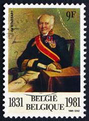 Postage stamp Belgium 1981 Baron de Stassart, Belgian Politician