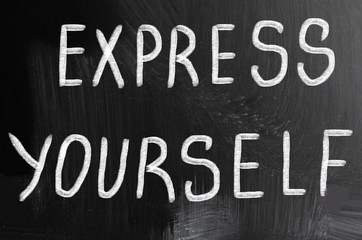 express yourself concept