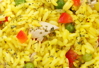 cooked rice as background