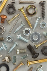 hardware tools at metal background