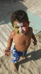 Bambino con tricolore