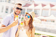 Young couple and ice-cream