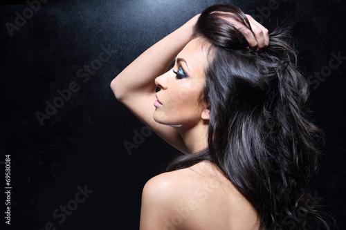 Piękne de la włosy. Poster