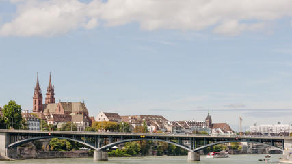 Basel, Altstadt, Rhein, Wettsteinbrücke, Münster, Schweiz
