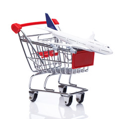 Aircraft in shopping trolley