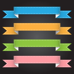 Vector illustration ribbon banner for design and creative work