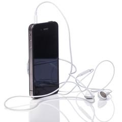 Smartphone and earphones