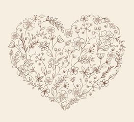 heart of the flower pattern