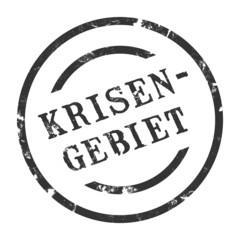 sk93 - StempelGrafik Rund - Krisengebiet - g1513