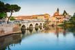 Leinwanddruck Bild - Bridge of Tiberius (Ponte di Tiberio) in Rimini