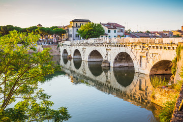 Bridge of Tiberius (Ponte di Tiberio) in Rimini
