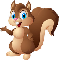 Funny cartoon squirrel
