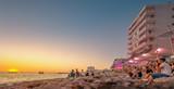 Ibiza island sunset view