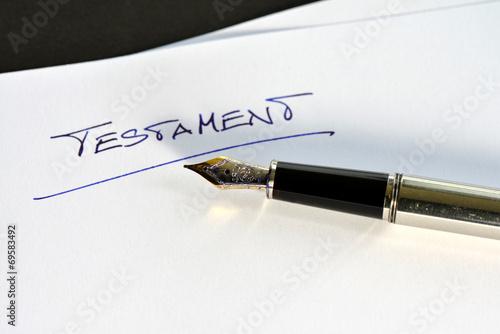 Testament, Letzter Wille, Erbschaft, Tod, Nachlass, Füller - 69583492