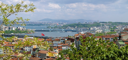 View of Istanbul and Golden Horn Estuary, Turkey